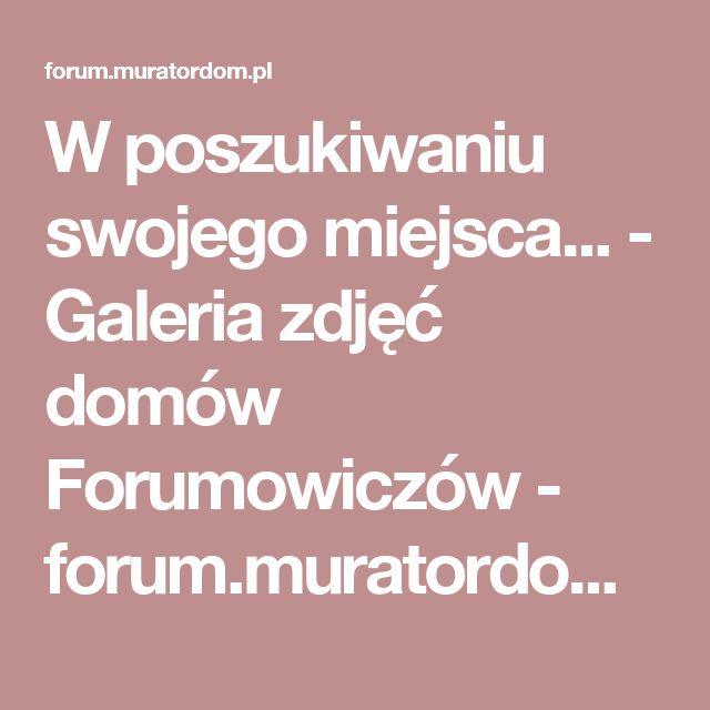 W poszukiwaniu swojego miejsca... - Galeria zdjęć domów Forumowiczów - forum.muratordom.pl
