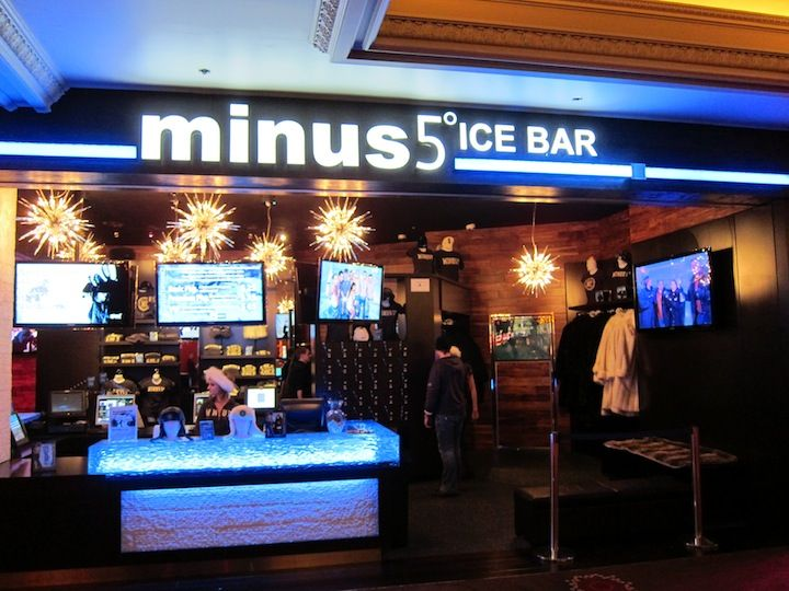 Minus 5º Ice Bar, in both the Monte Carlo and Mandalay Bay, Las Vegas, unique experience.