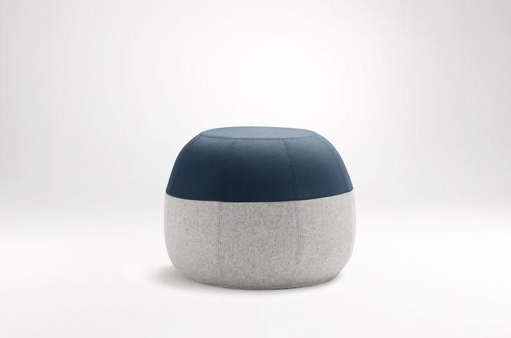 Puku ottoman: Teal top / Light Grey base