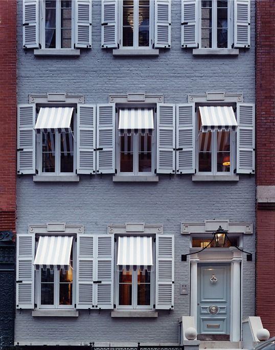 Miles Redd: Facades, Window, Exterior, Front Doors Color, Miles Redd, New York, House, Shutters, Newyork