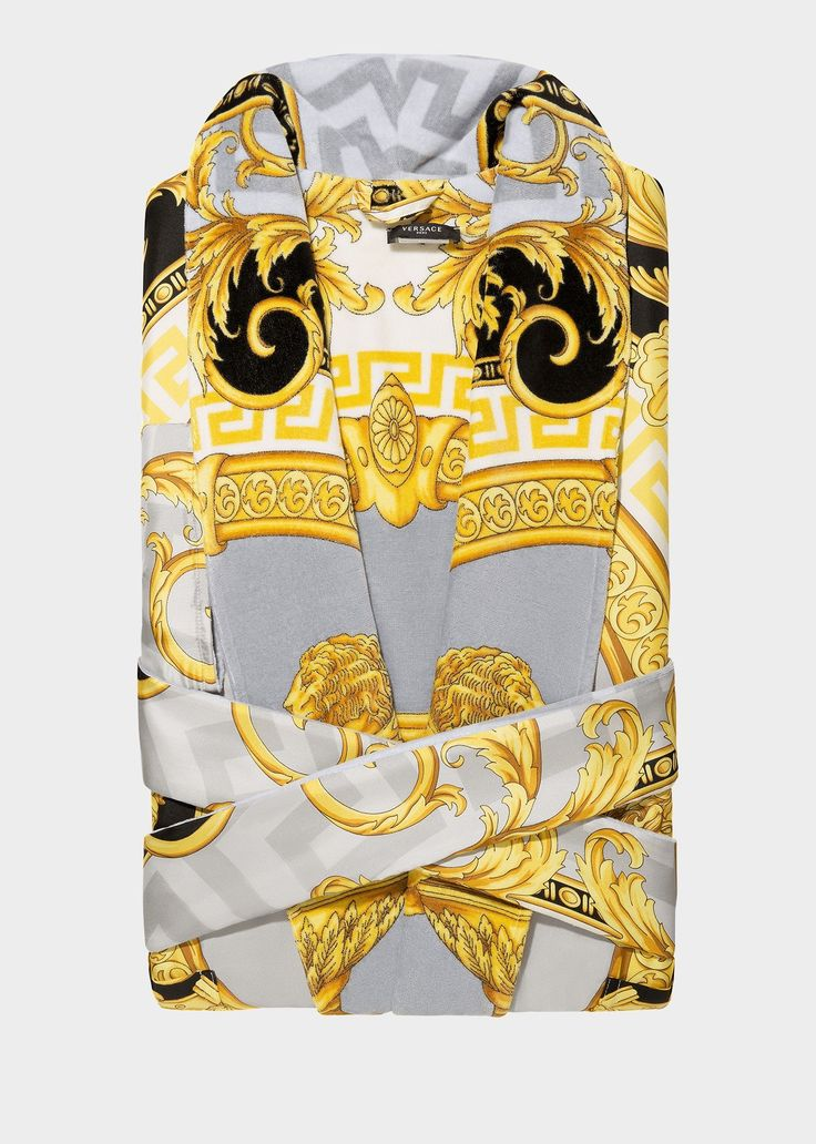 La Coupe Des Dieux Silk Bathrobe by Versace