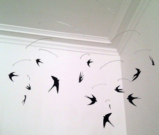 DIY Mobile With Swallows, by Frk Smed