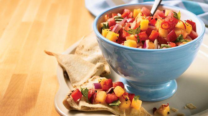 Salsa aux deux melons | Recettes IGA | Fruits, Sauce, Recette rapide