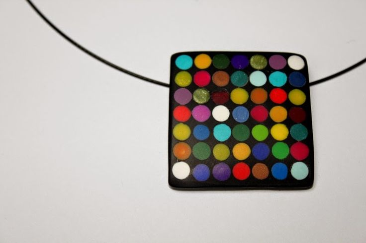 polymer clay, dots