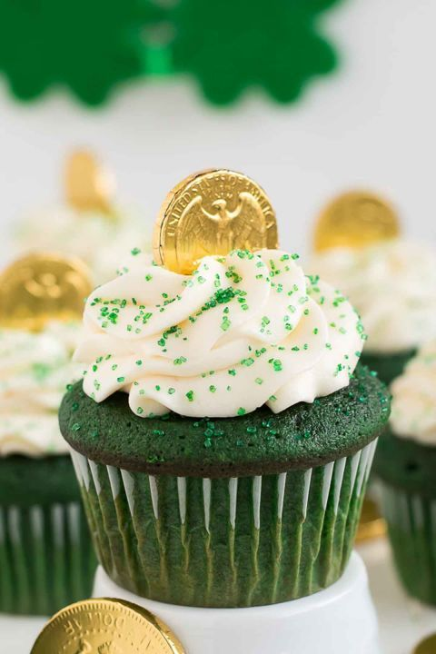 Green Velvet Cupcakes: It really isn't St. Patrick's Day until you've enjoyed a tasty, green treat. Click through to discover more quick and easy St. Patrick's Day recipes.
