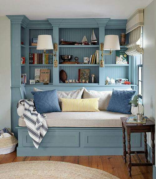 Beautiful built in reading nook