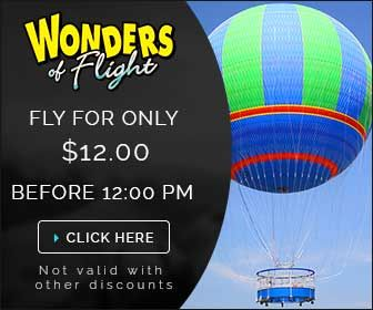 Looking for really cool and unique Pigeon Forge attractions, new things to in Pigeon Forge? The Pigeon Forge Balloon is a MUST DO Experience, see the Smokies from 500 feet in the air.