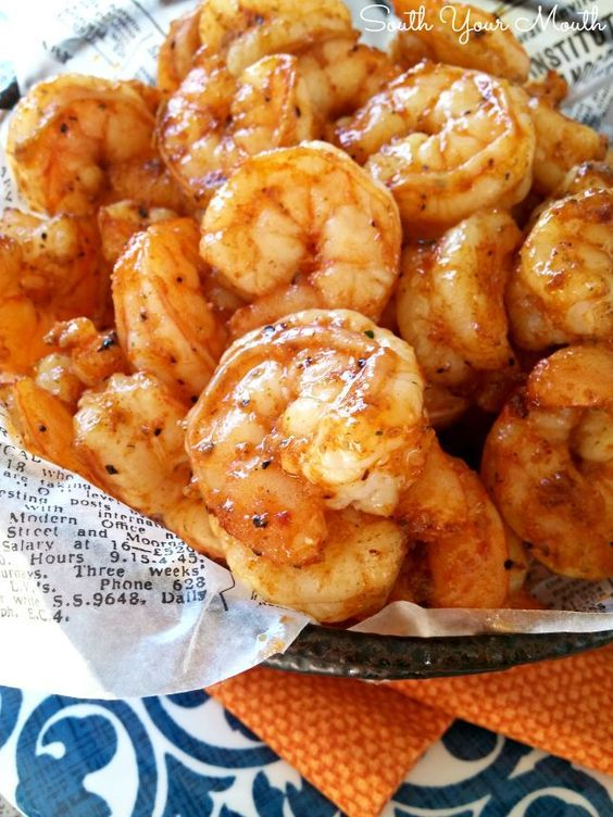 Party Shrimp! Super easy recipe with just a few ingredients that cooks up quick in the oven. Perfect for entertaining!: