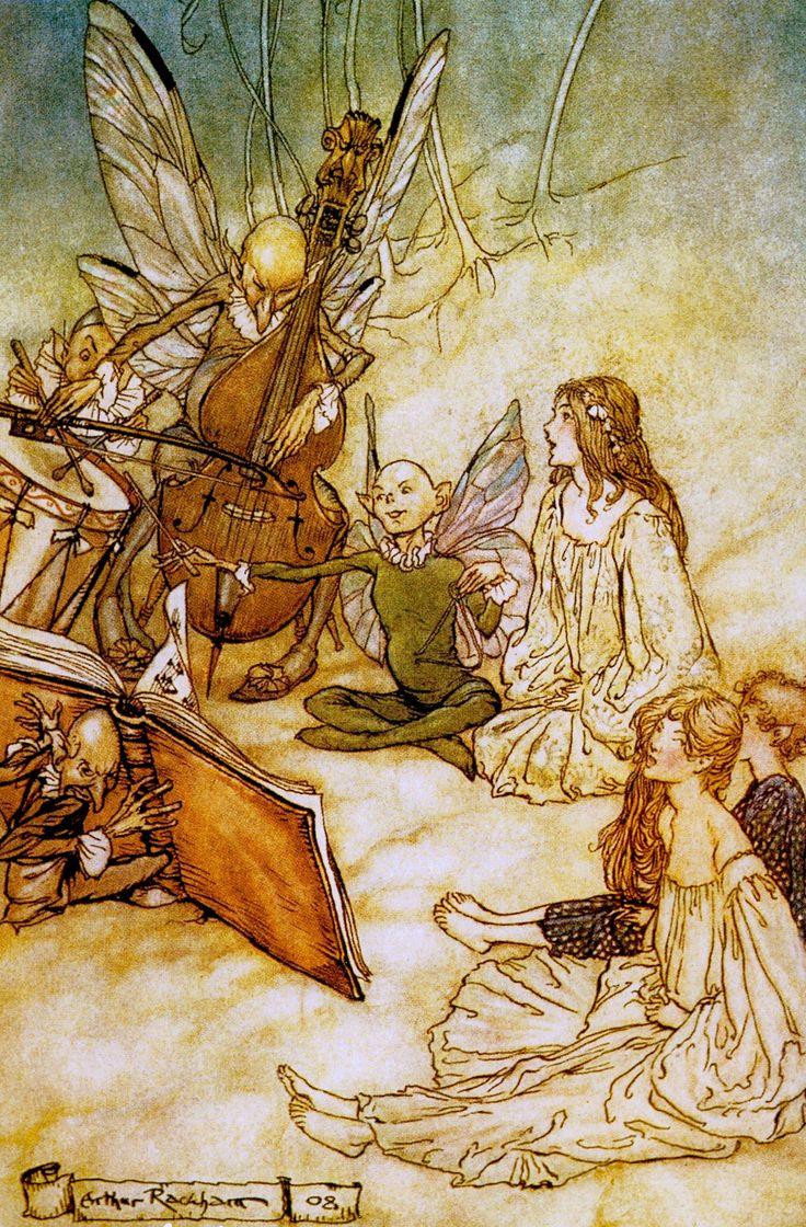 Fairy Music Detail By Arthur Rackham For His Sumptuous