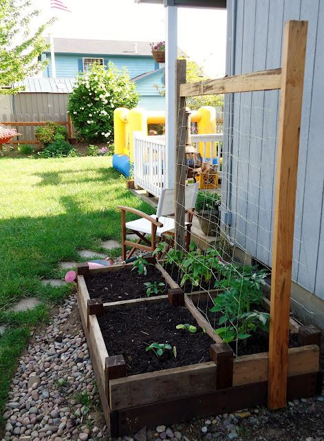 We had to get rid of our veggie garden due to my back problems, but a smaller, raised bed with easy access to cukes and other vined veggies would be awesome!