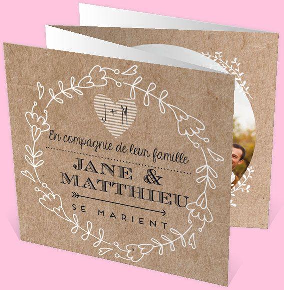 Faire-part mariage réf.N83001