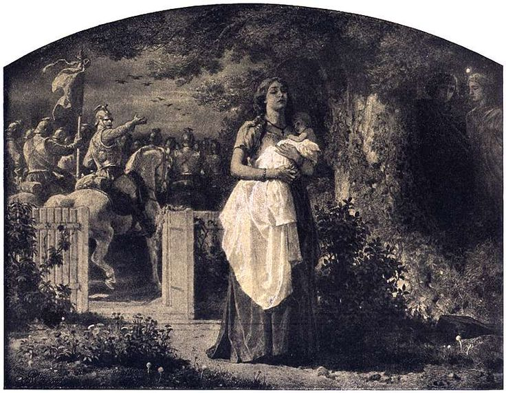 Artur Grottger -  Wojna, IV. Pożegnanie, 1867