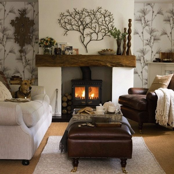 forest-themed living room
