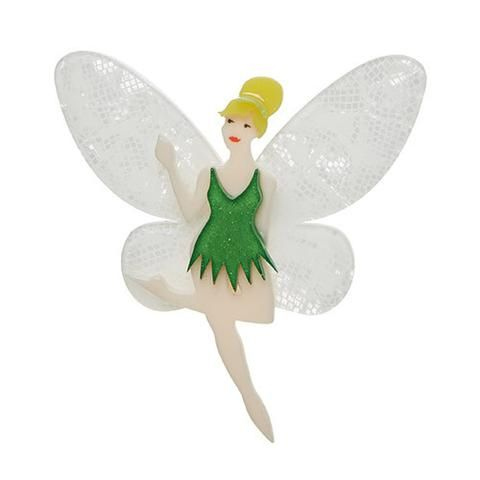 """Erstwilder Limited Edition Tinkerbell Brooch. """"One feeling at a time is all that is required when that feeling is love."""""""