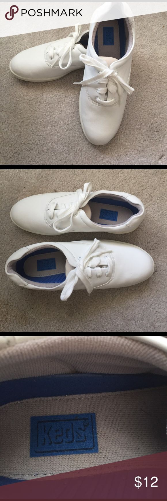 Leather Keds Champion Walkers New Sz 8 1/2 New never worn Keds Women Champion Walker in White. Suze 8 1/2. Keds Shoes Athletic Shoes