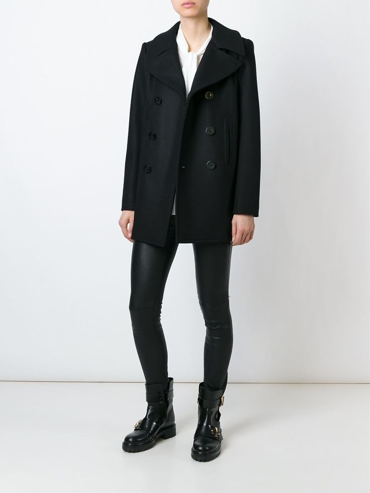 Saint Laurent Classic Peacoat - L'espionne - Farfetch.com