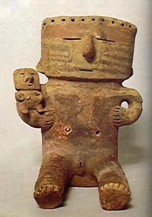 Ceramio antropomorfo de la serie Los Retablos - Cultura Quimbaya