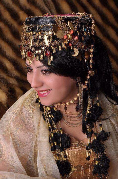 Very pretty proud Kurdish girl with Kurdish tradition dress ....