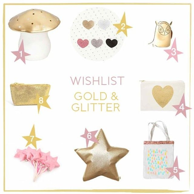 Wishlist Noël 2013 - Gold and glitter ! Plus de wishlist sur le blog