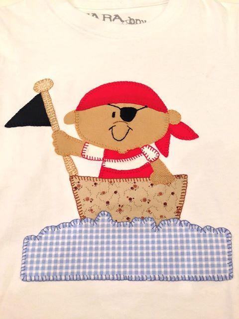 Aplicación de patchwork  en camiseta