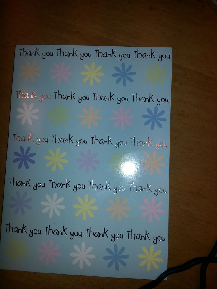 A great Thank You card!!!