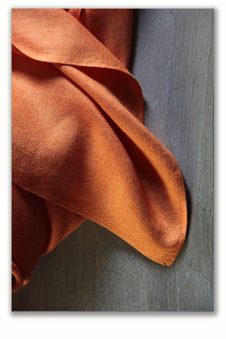 pumpkin cashmere and sIlk scarf
