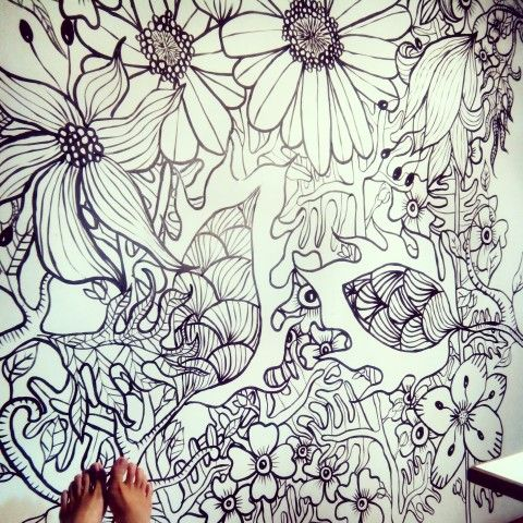 Mural Doodling by MD