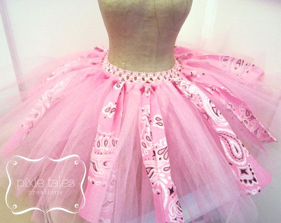 Hey, I found this really awesome Etsy listing at https://www.etsy.com/listing/228432788/pink-bandana-tutu-country-tutu-cowgirl