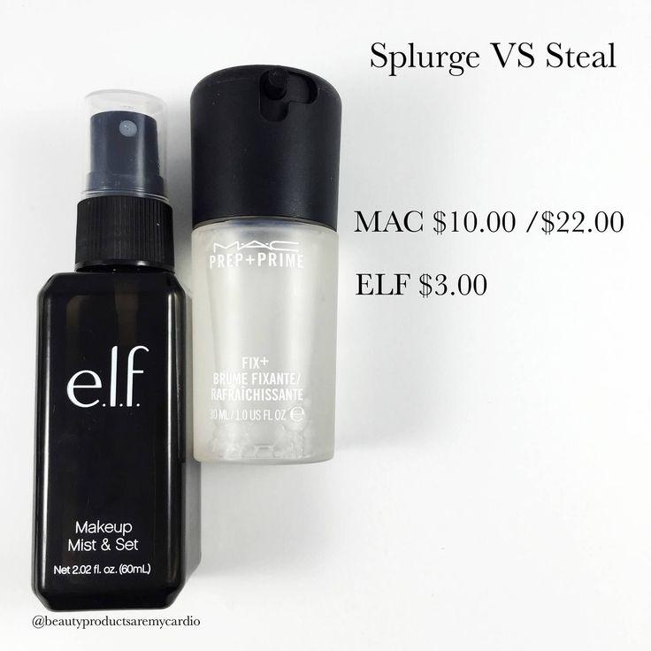 MAC FIX PLUS DUPE • MAC FIX PLUS • ELF SETTING SPRAY • SPLURGE VS STEAL MAKEUP • MAKEUP DUPES