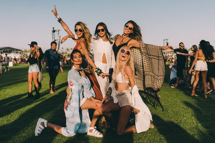 Festival style girl squad at Coachella 2016 shot by Driely S.| Spell Blog