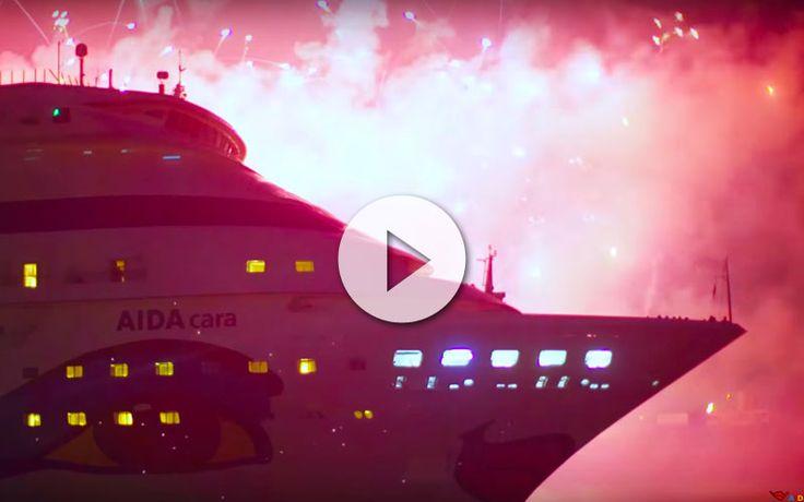 AIDAcara completa la primera vuelta al mundo de la naviera alemana AIDA Cruises. Fue recibido en el puerto de Hamburgo con  música clásica y fuehos artificiales