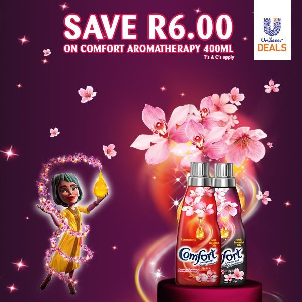 Save up to R6 on any Comfort 400ml variant! Select the deal, sign up & get your coupon code today > http://goo.gl/GNLAO5