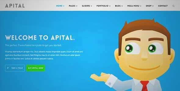 Download and review of Apital - Corporate Business WordPress Theme, one of the best Themeforest Corporative themes