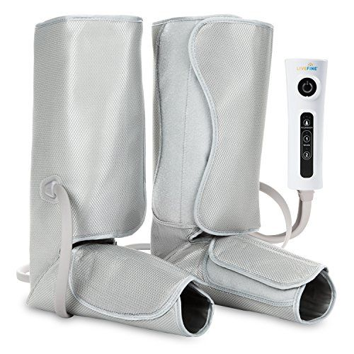 LiveFine Air Leg Compression Massager - Electric Foot & Calf Massage Wraps with Handheld Controller – 2 Modes & 3 Intensities Relieve Fatigue & Improve Blood Flow Circulation #LiveFine #Compression #Massager #Electric #Foot #Calf #Massage #Wraps #with #Handheld #Controller #Modes #Intensities #Relieve #Fatigue #Improve #Blood #Flow #Circulation