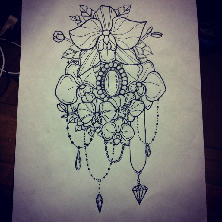 love love ♥♥ I love all the droplets and gems it really makes this piece very feminine