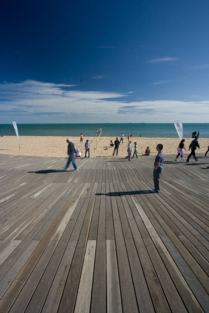 St Kilda Beach Foreshore Promenade Melbourne Victoria Australia