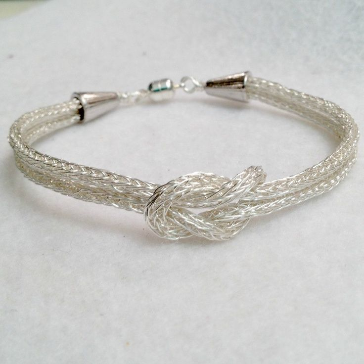 images of viking knit jewelry | Viking Knit Silver Love Knot bracelet by DonnaDStore ... | Jewelry Id ...