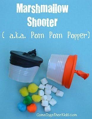 Was für eine geniale Idee. Becher, Luftballons und Marshmallos... macht viiiel Spaß