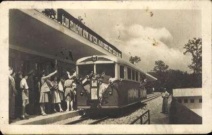 Postázás dátuma1954. Úttörővasút, Hűvösvölgy állomás