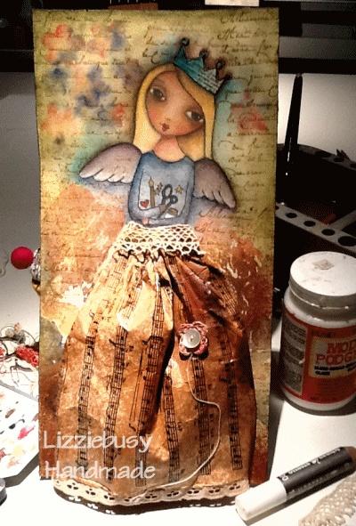 Artist's Angel, Suzi Blu stamp