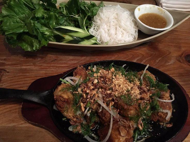 Photo of Tay Ho Restaurant & Bar - Oakland, CA, United States. Fried catfish lettuce wraps!