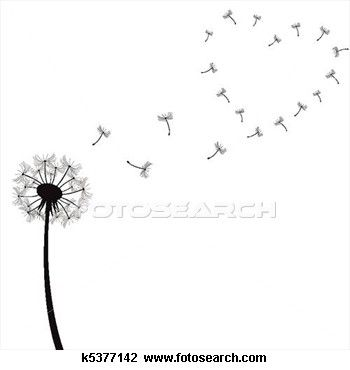 Dandelion + Heart. I would like this as a tattoo and then have I Wish in script within the heart.