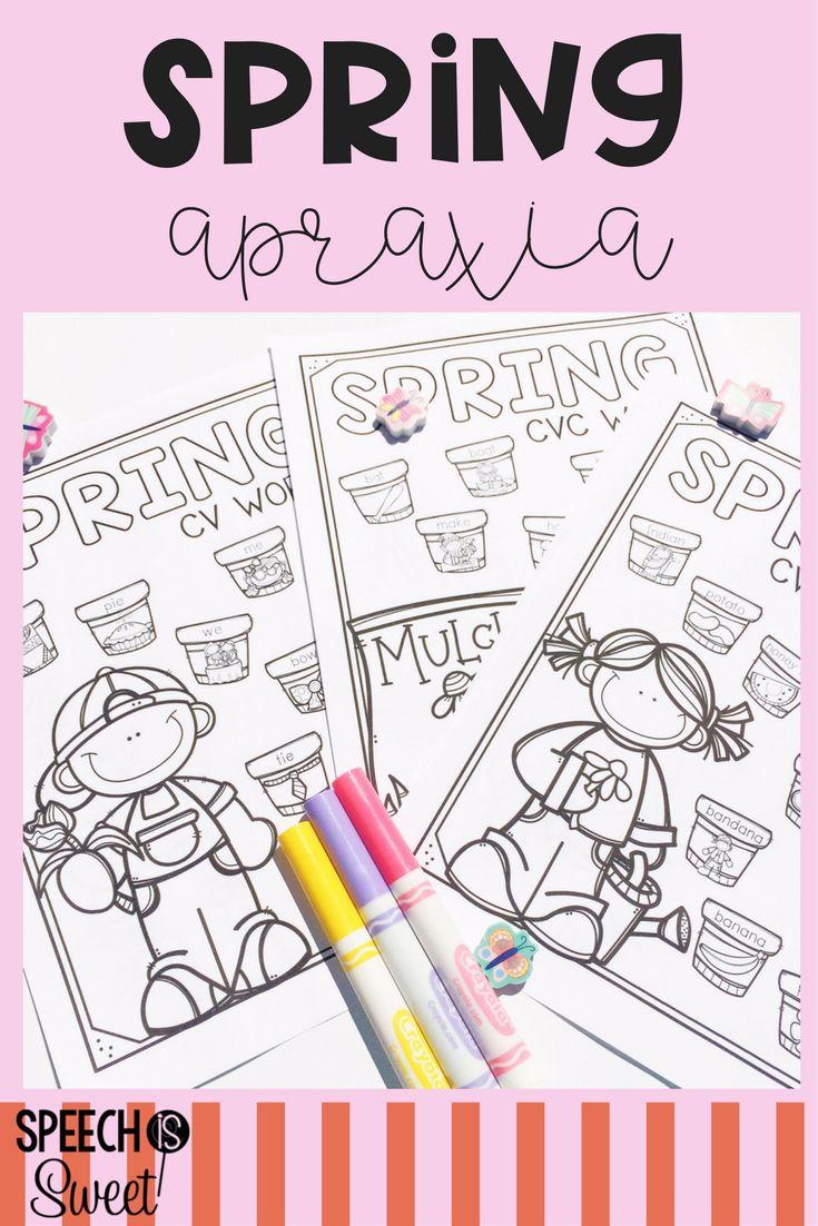 Coloring activities speech therapy - Spring Apraxia Play Dohcoloring Sheetstherapy Ideasspeech