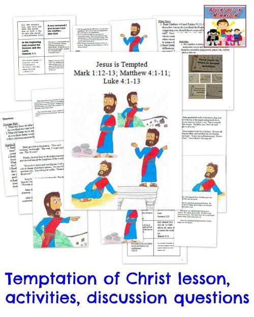 9 best JESUS THE DESERT images on Pinterest  Kids bible