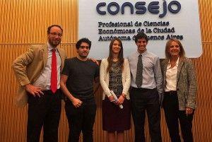 Premios en las Olimpíadas de Contabilidad y Administración | El Consejo Profesional de Ciencias Económicas entregó los premios a los tres alumnos de la Facultad de Ciencias Empresariales, sede Buenos Aires, que ganaron en las VII Olimpíadas Contables y III Olimpíadas de Administración que se celebraron este año.