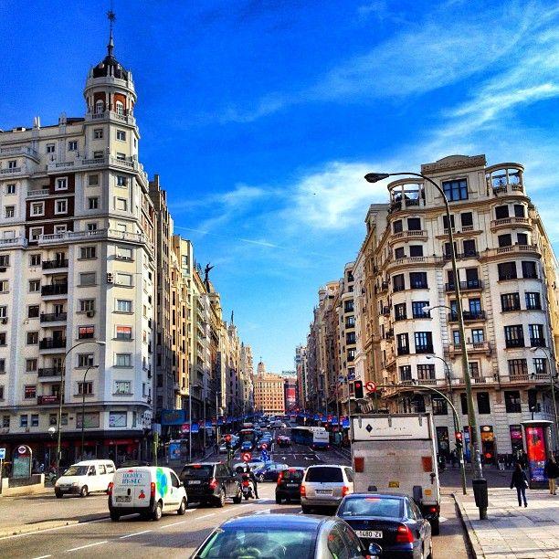 Gran Vía in Madrid, Madrid