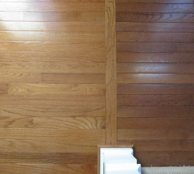 Simple way to transition from one type of hardwood floors (old) to another type of hardwood floors (new)