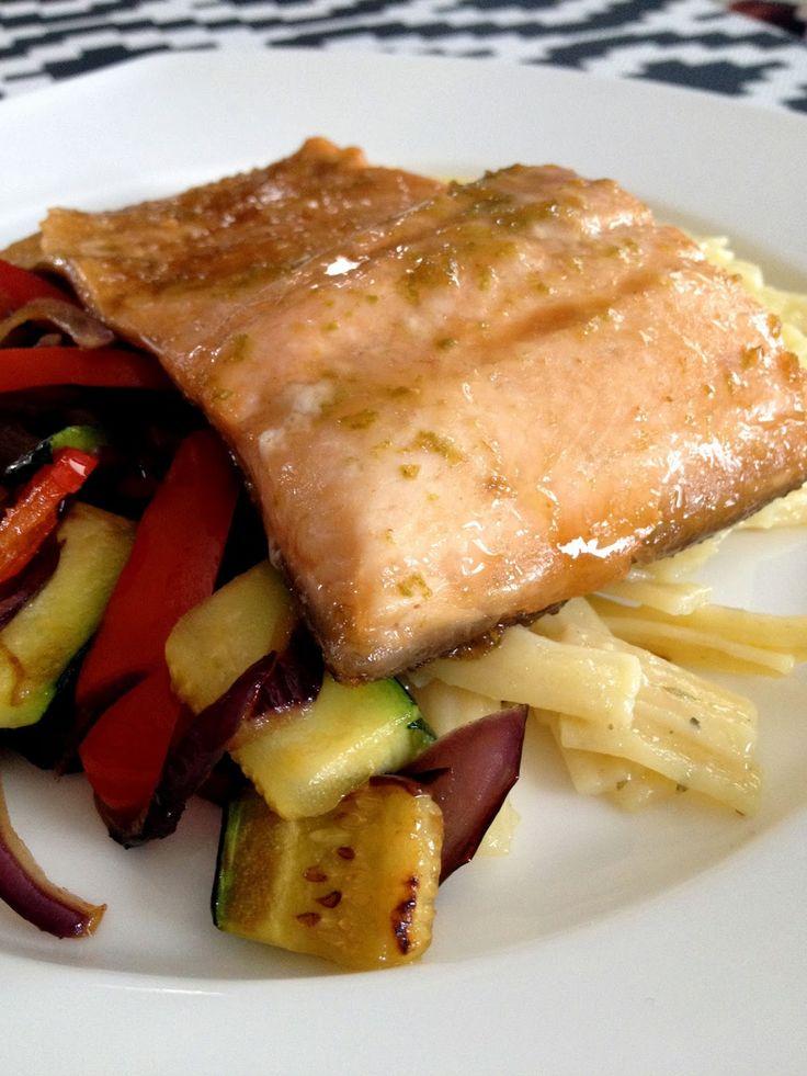 Ces temps ci en cuisine: Filet de truite à la marinade lime-érable