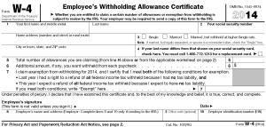 A blank copy of Form W-4 - Form W-4 / IRS.gov