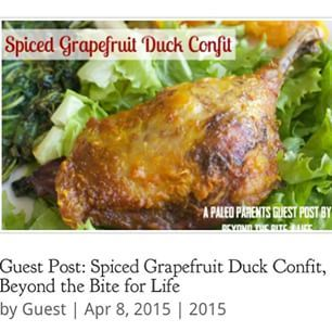 Duck is an amazing source of protein to add to your diet. This Spiced Grapefruit Duck Confit from Gabriella of @beyondthebite4life is easy on the preparation but loaded with flavor! http://paleoparents.com/2015/guest-post-spiced-grapefruit-duck-confit-beyond-the-bite-for-life/ (live link to the recipe in bio!) #paleo #hashtagpaleo #paleofood #glutenfree #grainfree #paleoeats